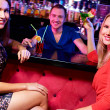 Stock Photo: Girls with cocktails