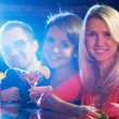 Friends in bar — Stock Photo