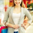 Shopper in the mall — Stock Photo