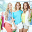 Company of shoppers — Stock Photo