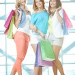 Three shoppers — Stock Photo