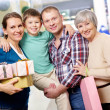 Family of shoppers — Stock Photo