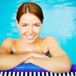 Pretty swimmer — Stock Photo