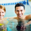 Couple of swimmers — Stockfoto