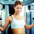 Girl in gym — Stock Photo #28276749