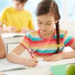 Girl drawing — Stock Photo #28277875