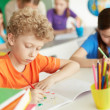 Boy drawing — Stock Photo #28277897