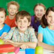 Stock Photo: Happy schoolkids