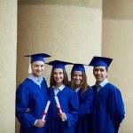 Row of graduates — Stock Photo