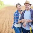 Stock Photo: Farmers on field