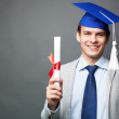 Student with diploma — Stock Photo #28278611