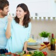 Couple in the kitchen — Stock Photo #28278885