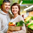 Stock Photo: Healthy food eaters