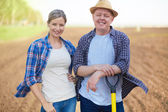 Two farmers — Stock Photo