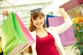 Lucky shopping — Stock Photo