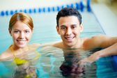 Couple of swimmers — Stock Photo