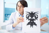 Presenting Rorschach inkblot — Stock Photo