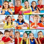 Cute school friends — Stock Photo