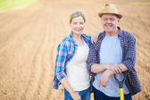Successful farmers — Stock Photo