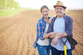 Farmers on the field — Stock Photo