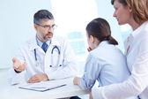 Consulting patient — Stock Photo