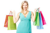 Woman with paperbags — Stock Photo