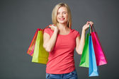 Female after shopping — Stock Photo
