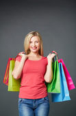 Shopper in isolation — Stock Photo