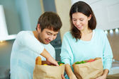 After visiting supermarket — Stock Photo