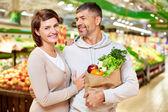 Couple of consumers — Stock Photo