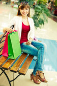 Rest between shopping — Stock Photo