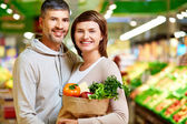 Healthy food eaters — Stock Photo