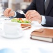 At business lunch — Stock Photo