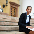 Charming employee — Stock Photo