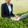 Working in open air — Stock Photo