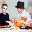Stock Photo: Halloween preparations
