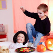 Stock Photo: Halloween trick