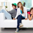 Friends on sofa — Stock Photo #29873729