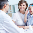 Speaking to the doctor — Stock Photo #29874411