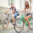 Couple of bicyclists — Stock Photo #29874871
