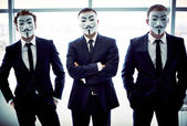 Anonymous trio — Stock Photo
