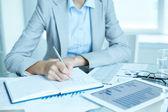 Writing business plan — Stock Photo