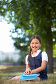 Elementary schoolgirl — Stock Photo