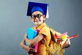 Schattig schooljongen — Stockfoto
