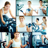 Training in health club — Stock Photo