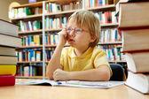 Chytrý chlapec — Stock fotografie