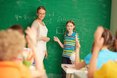 At the lesson — Stock Photo