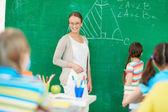 Teacher at lesson — Stock Photo