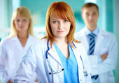 Female practitioner — Stock Photo
