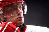 Hockey man — Stock Photo